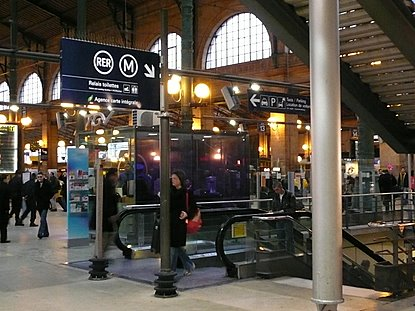 gare du nord is the train station and terminal for eurostar trains on the line london paris and br. Black Bedroom Furniture Sets. Home Design Ideas
